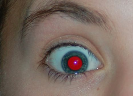 Why do people have red eyes in flash photographs
